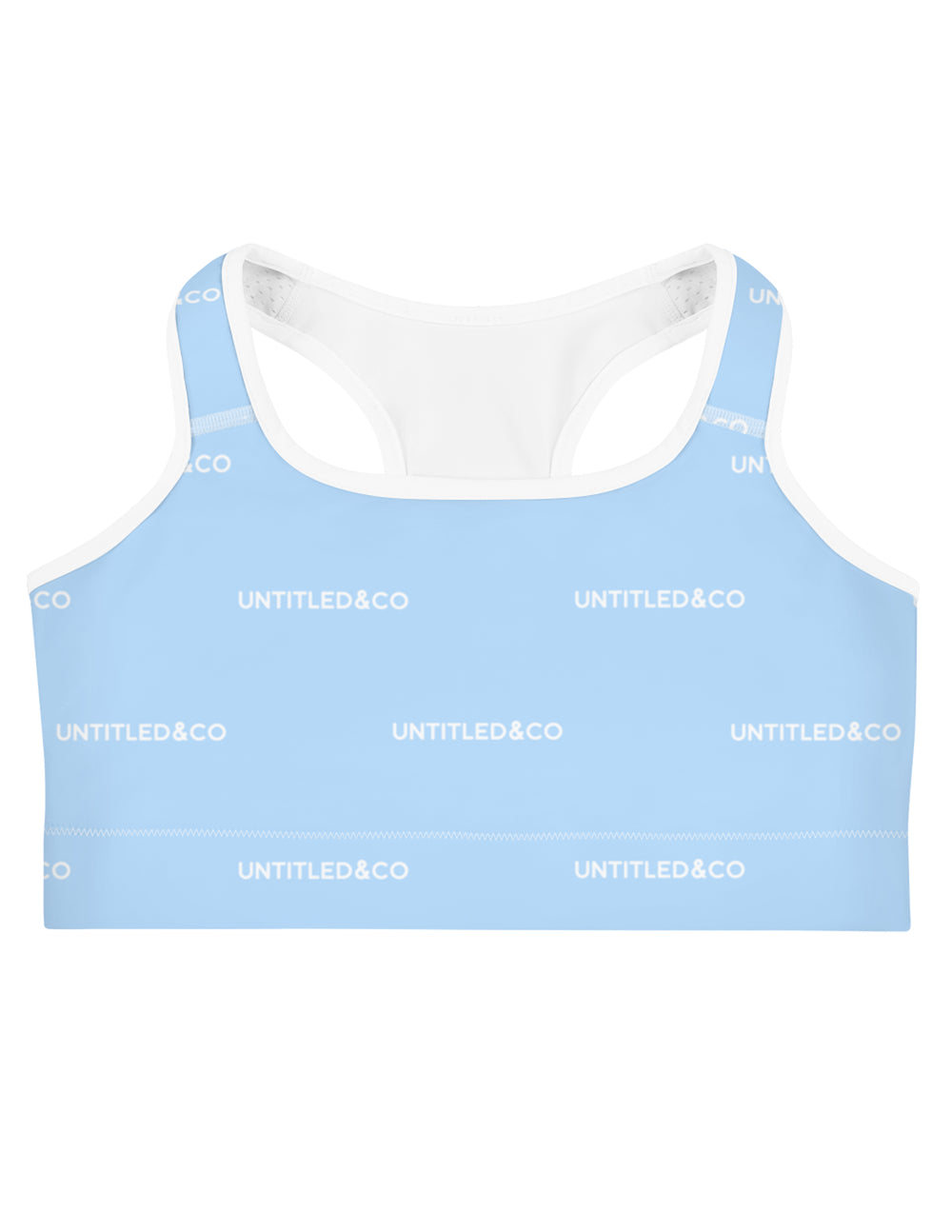 Jaime Sports bra Light Blue with White