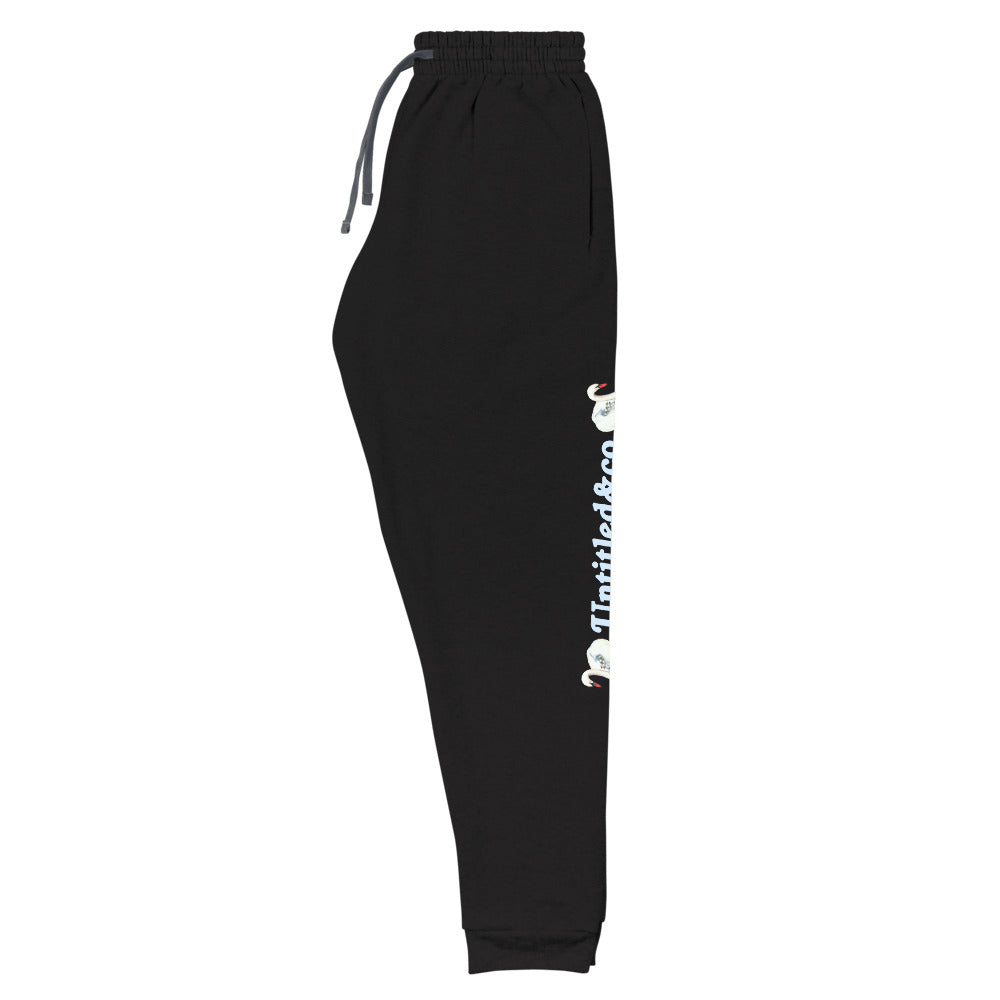 Life Sucks Joggers in Black