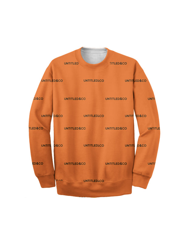 Andreas Sweatshirt in Orange with Black