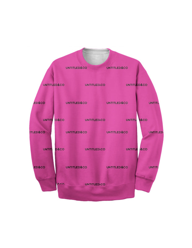 Andreas Sweatshirt in Pink with Black