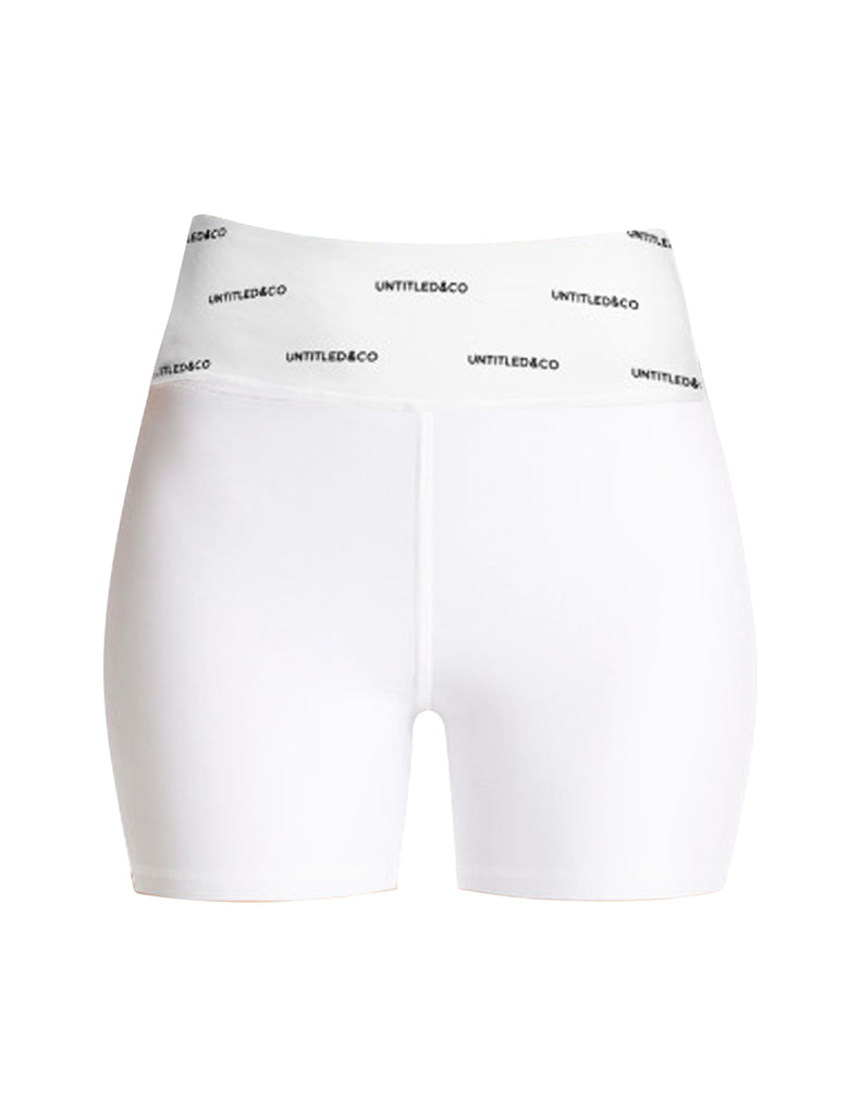 Rylee Shorts in White with Black