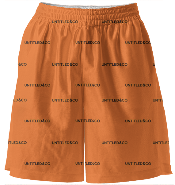 Sasha Shorts in Orange with Black