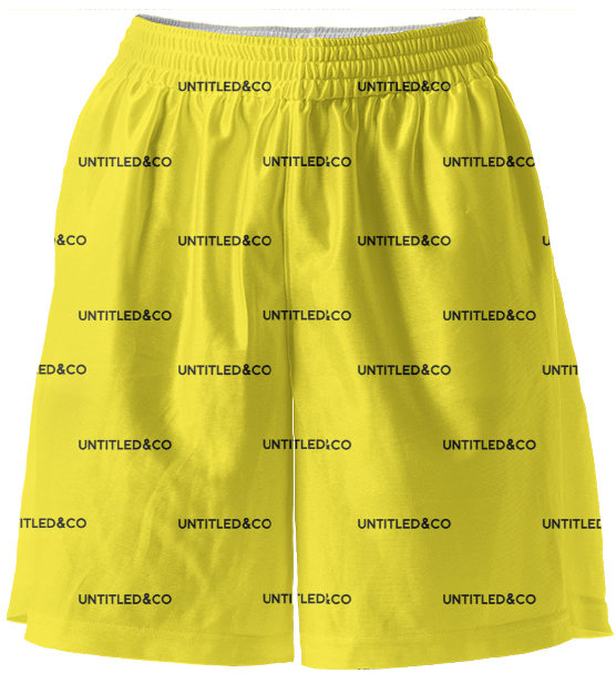 Sasha Shorts in Yellow with Black