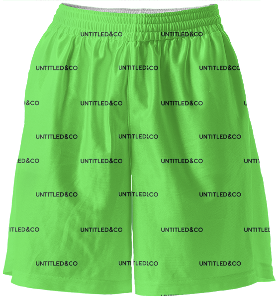 Sasha Shorts in Green with Black