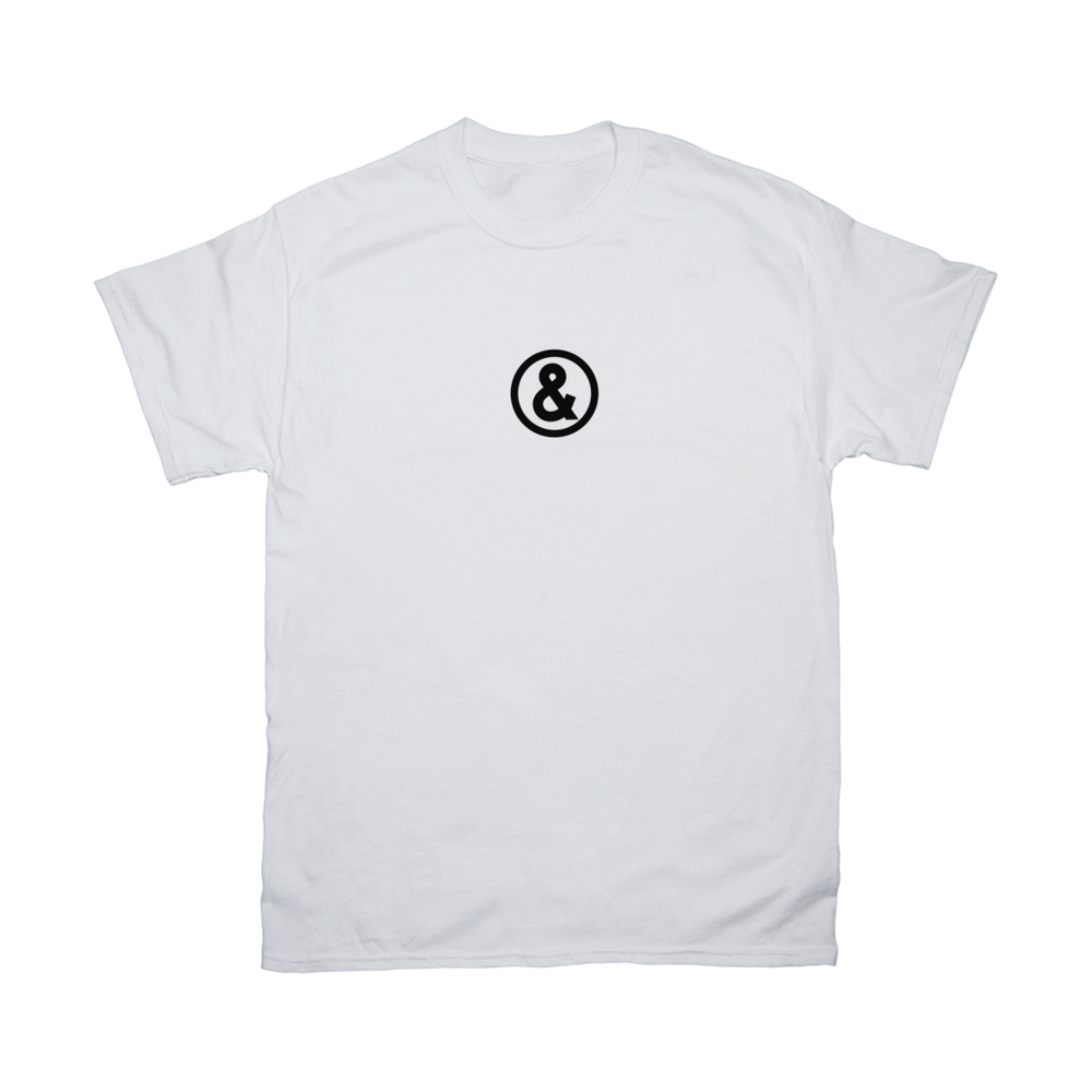 Circle Logo T-Shirt in White with Black