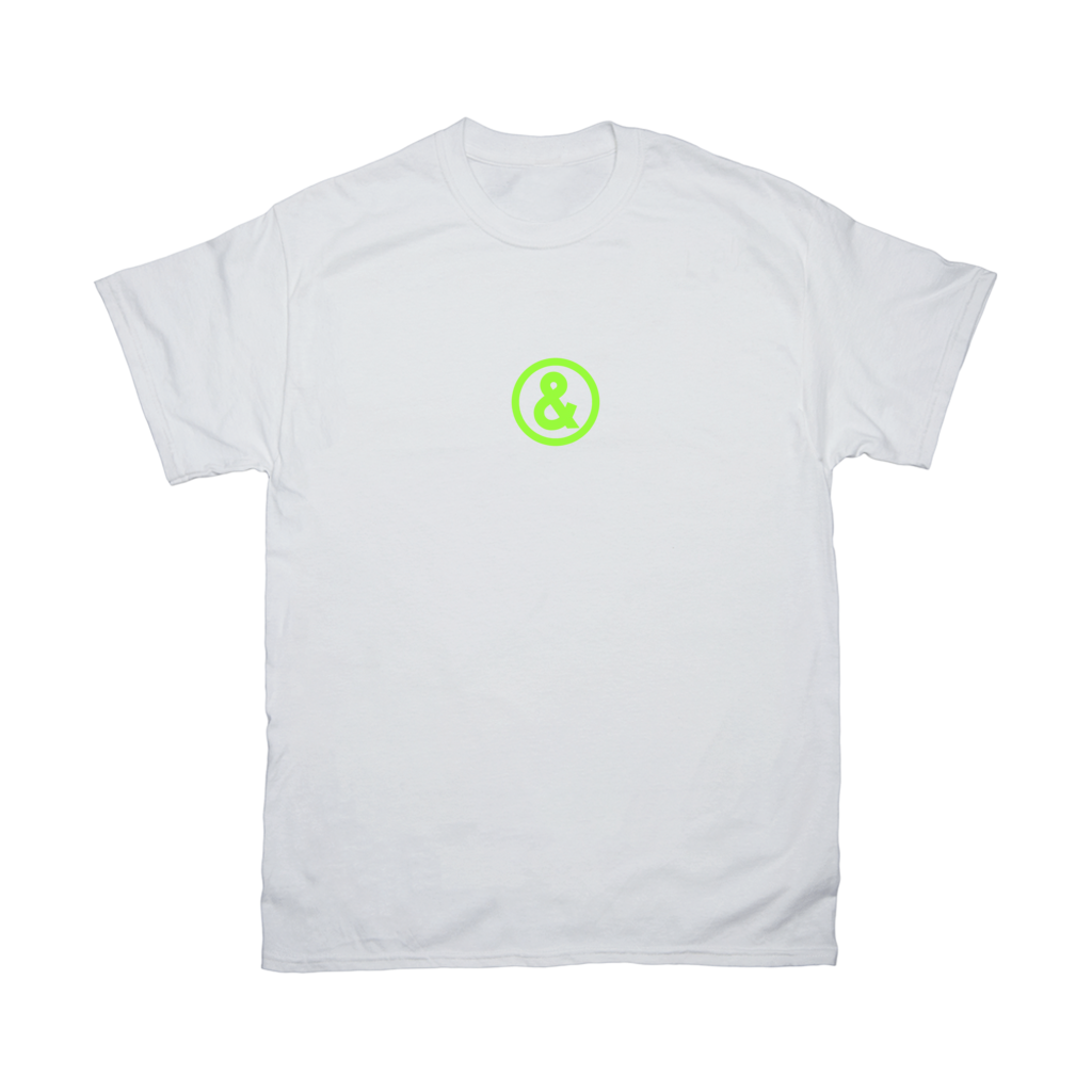 Circle Logo T-Shirt in White with Green