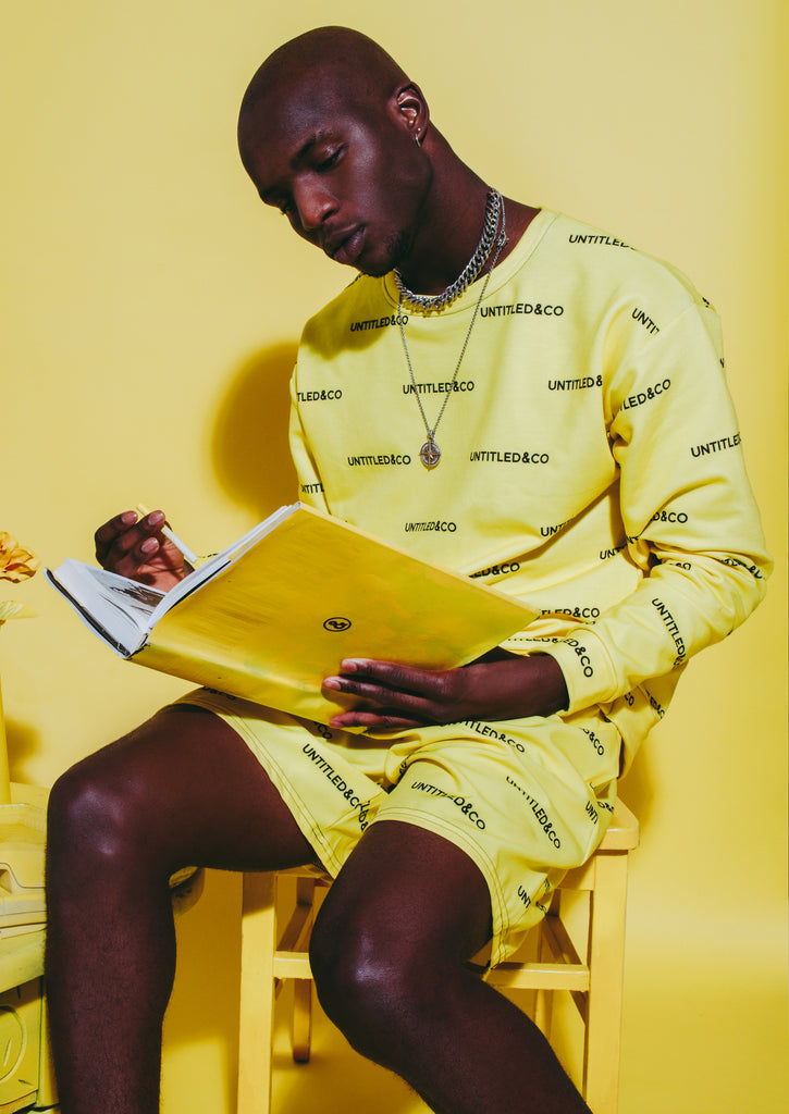 Andreas Sweatshirt in Yellow with Black