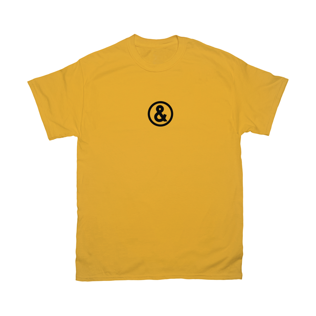 Circle Logo T-Shirt in Yellow with Black