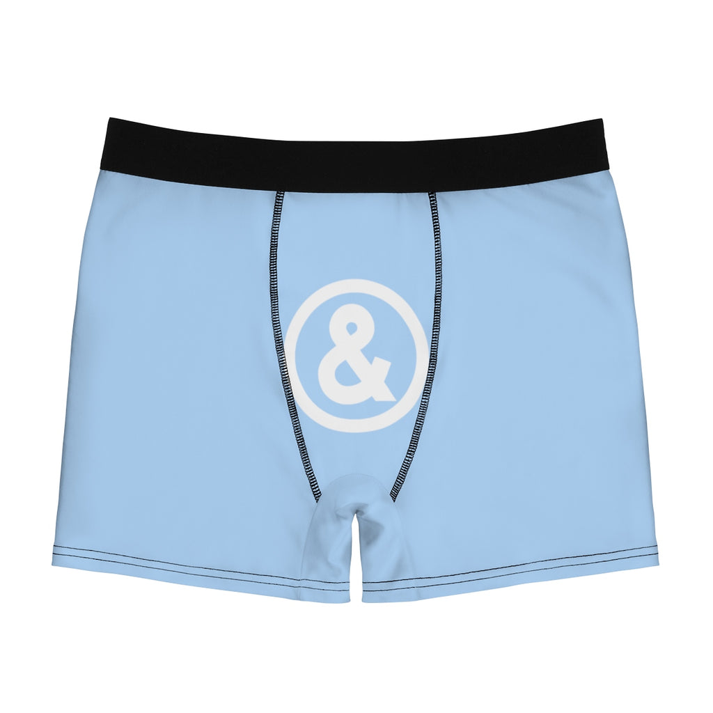 Cooney Boxer Briefs in Light Blue with White