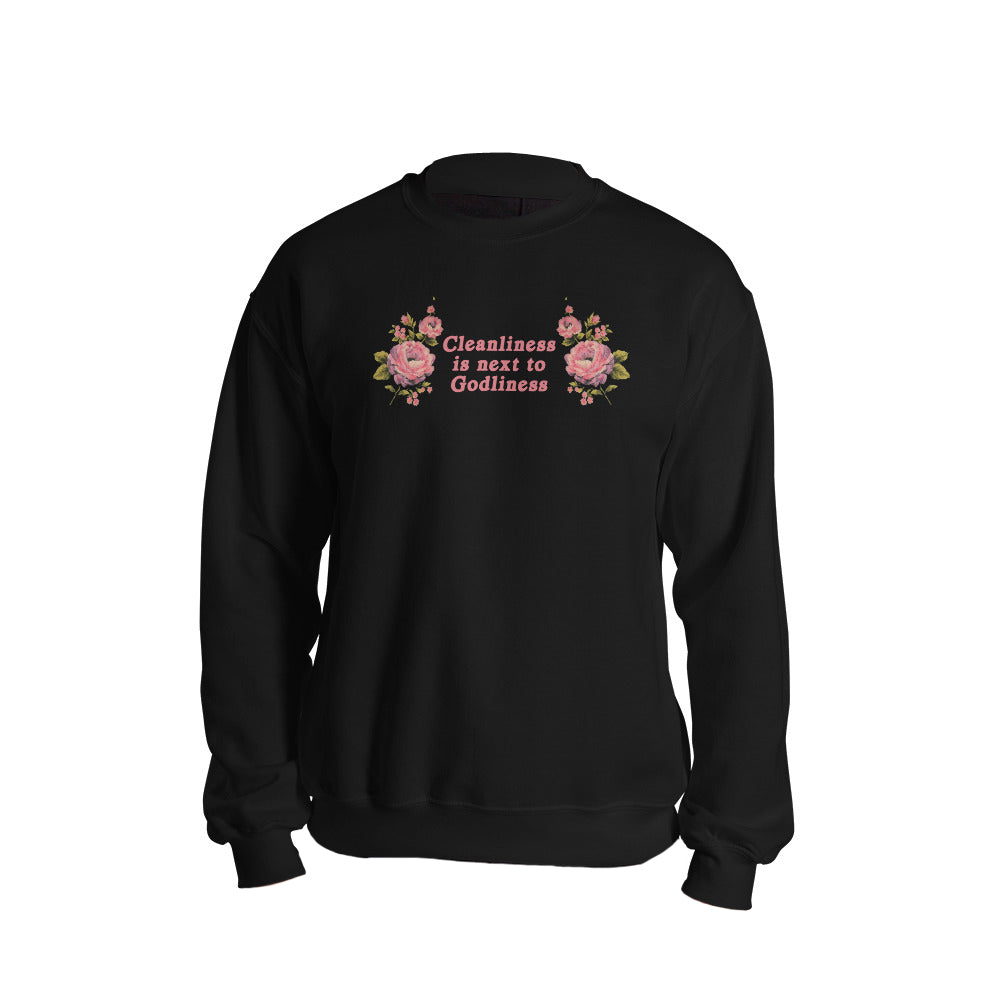 Cleanliness Sweatshirt in Black