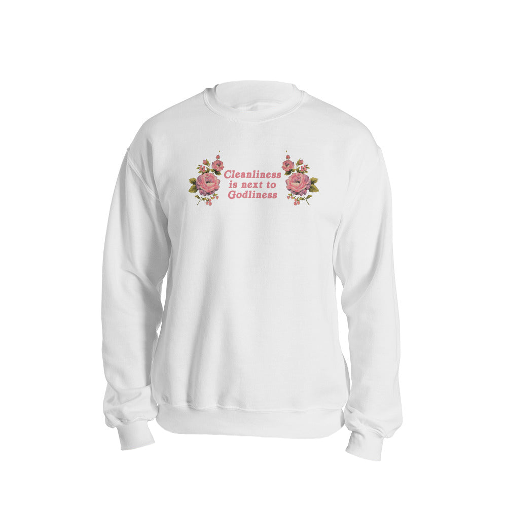 Cleanliness Sweatshirt in White