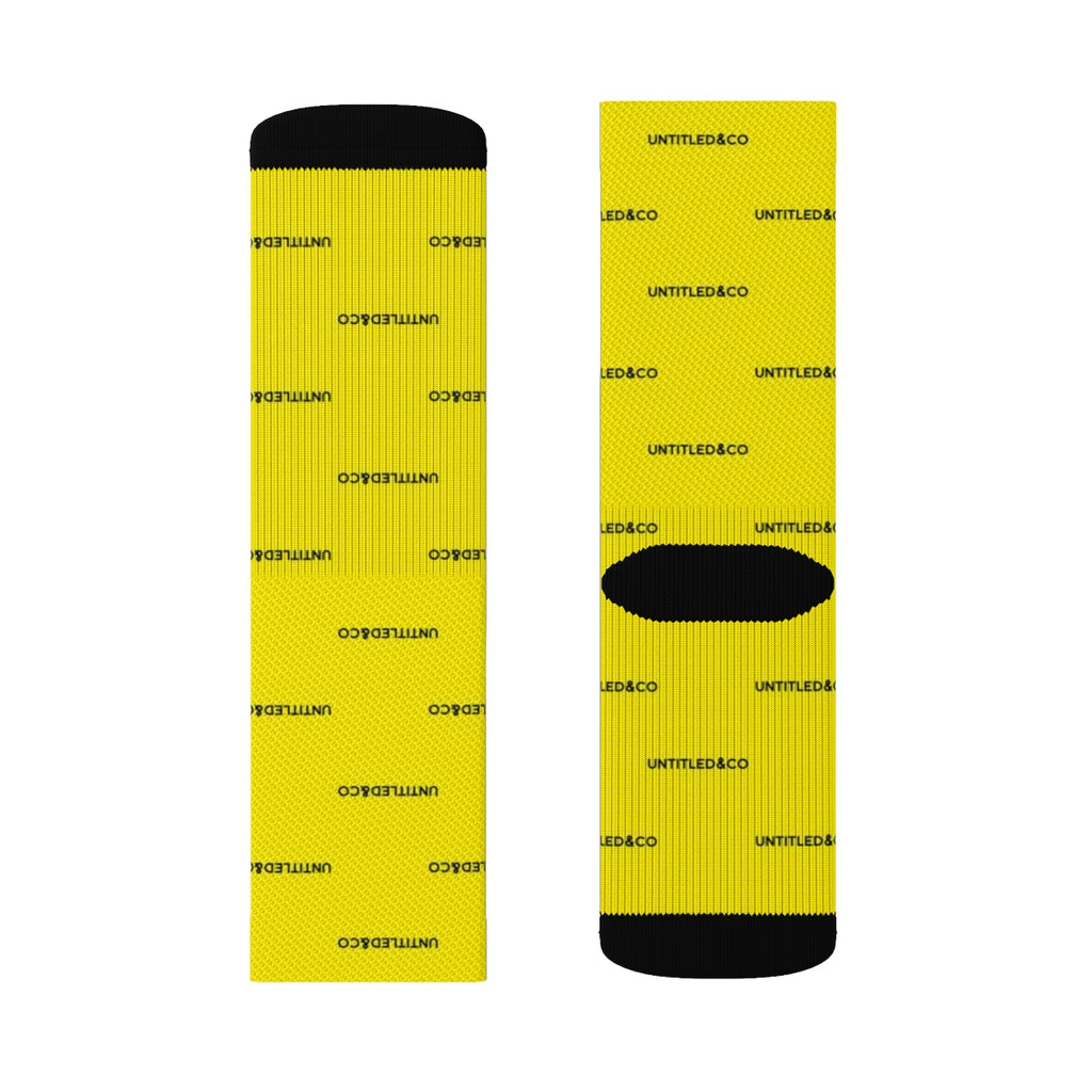 Cam Socks in Yellow with Black