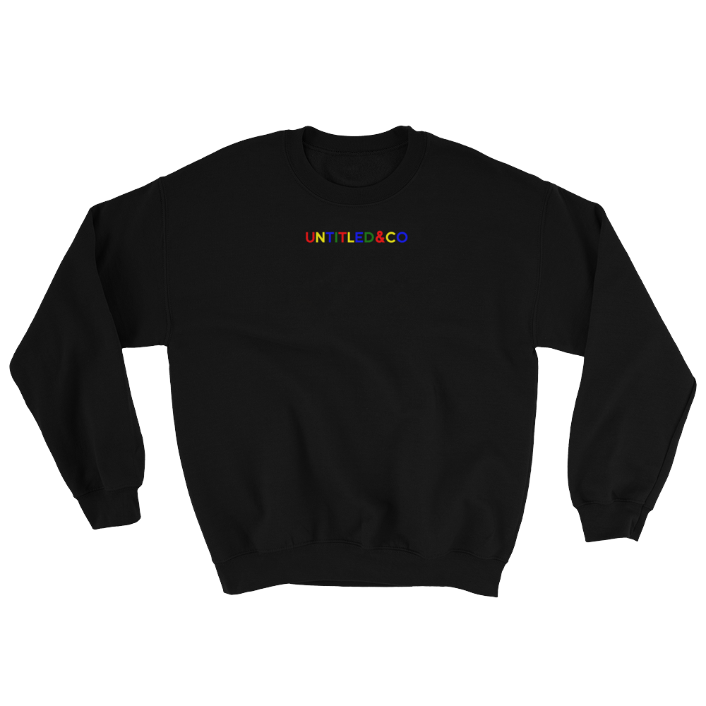 Script Logo Crewneck Sweatshirt in Black with Search