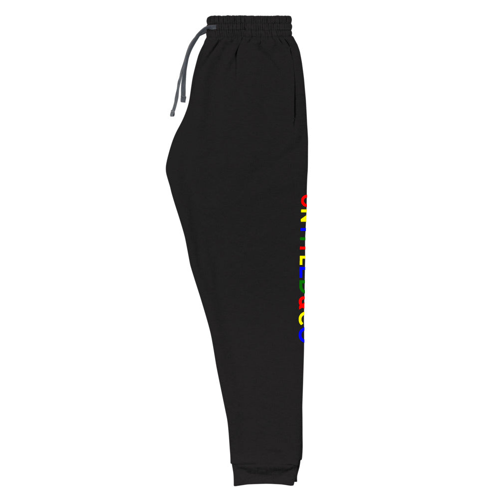 Script Logo Joggers in Black with Search