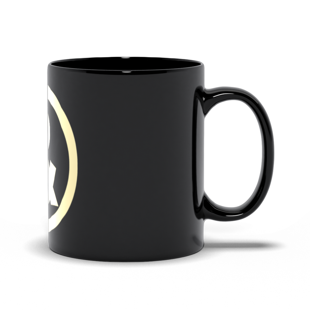 Circle Logo Mug in Black with Sand