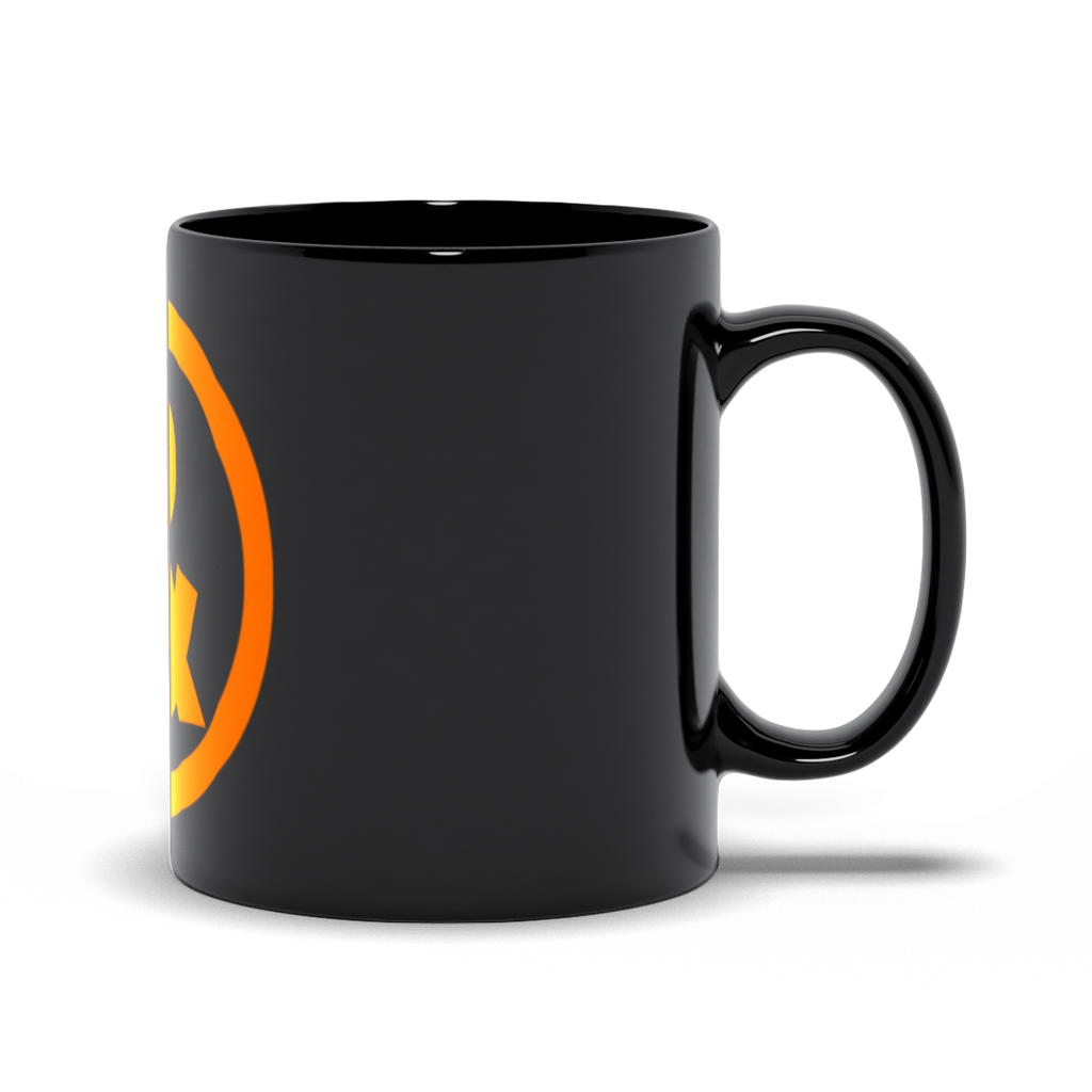 Circle Logo Mug in Black with Orange