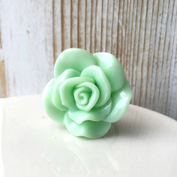 Mint Green Rose Ring