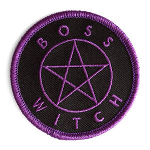 Boss Witch Embroidered Iron-On Patch