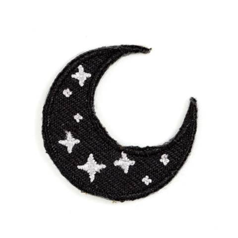 Crescent Moon Embroidered Sticker Patch