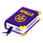 Spell Book Embroidered Iron-On Patch