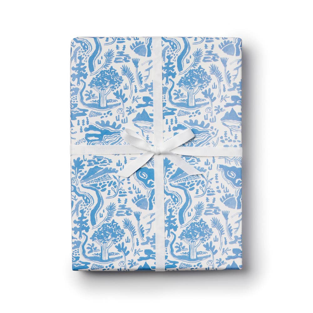 River Toile Gift Wrap Roll