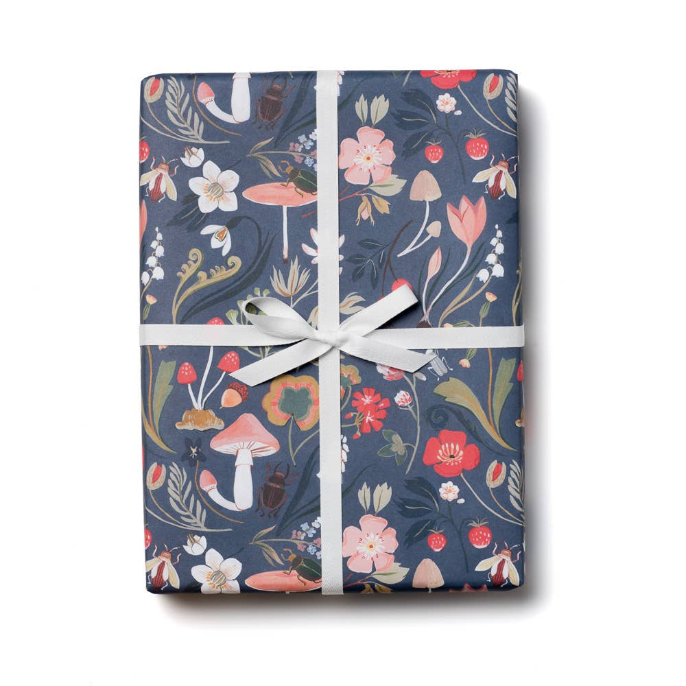 Blue Forest Gift Wrap Paper