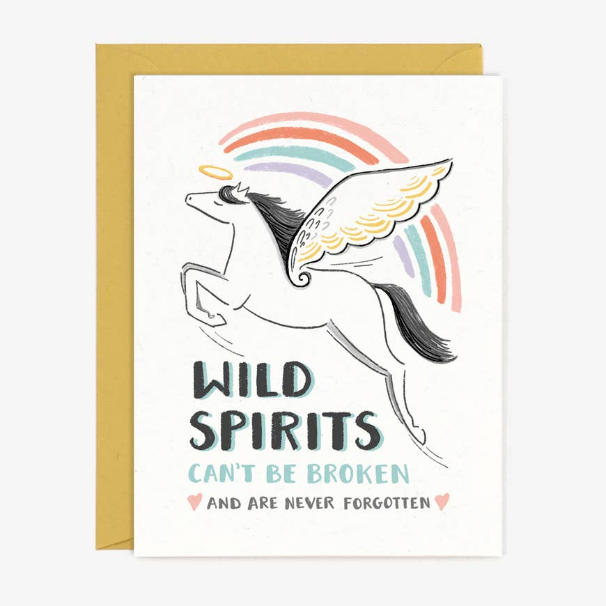 Wild Spirits Sympathy Greeting Card
