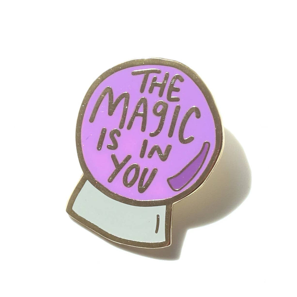 The Magic is in You! Crystal Ball Enamel Pin