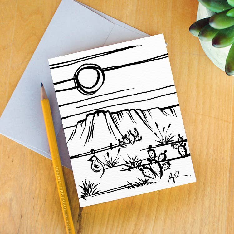 Simply Sonoran Desert Greeting Card