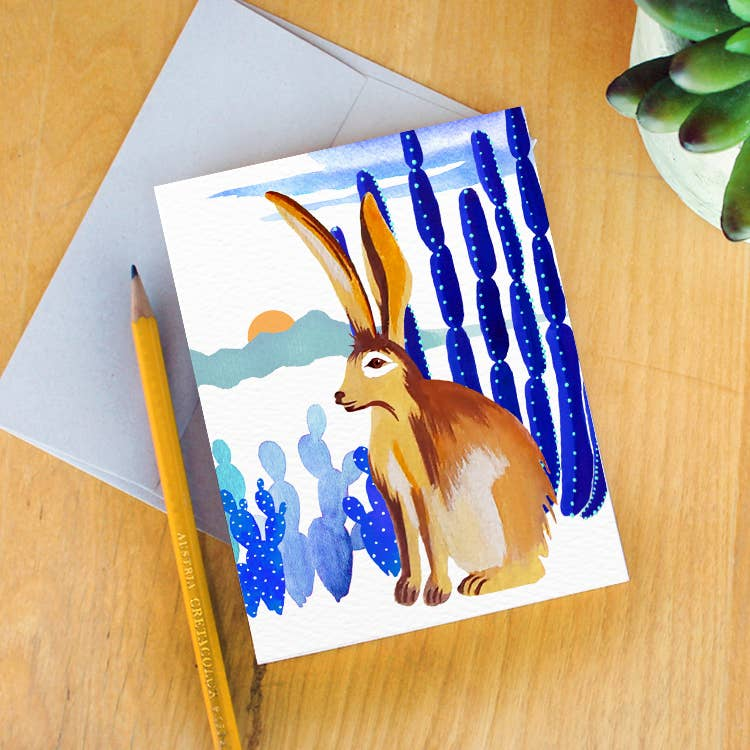 Monsoon Jackrabbit Greeting Card