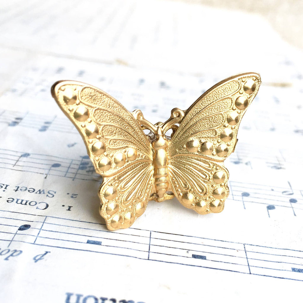 Gold Butterfly Fairy Ring