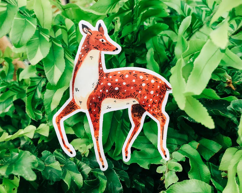 Deer Animal Vinyl Sticker