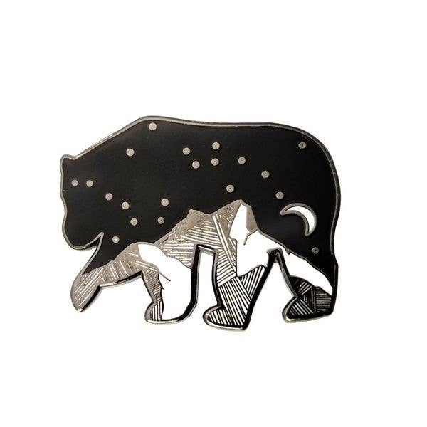 Bear Starry Night Enamel Pin