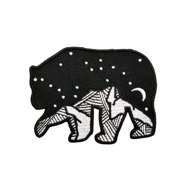 Bear Starry Night Iron on Patch