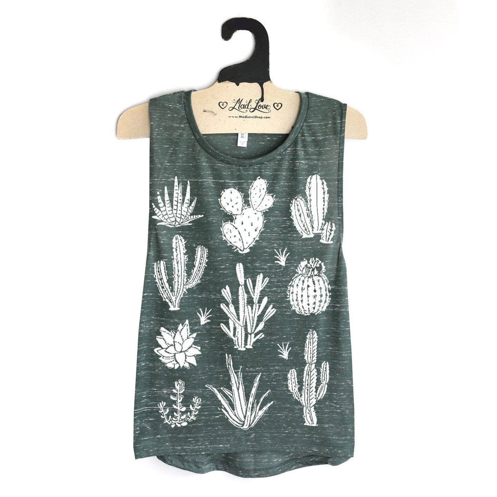 Cactus and Succulents Top | Dark Green Marble | Eco-friendly