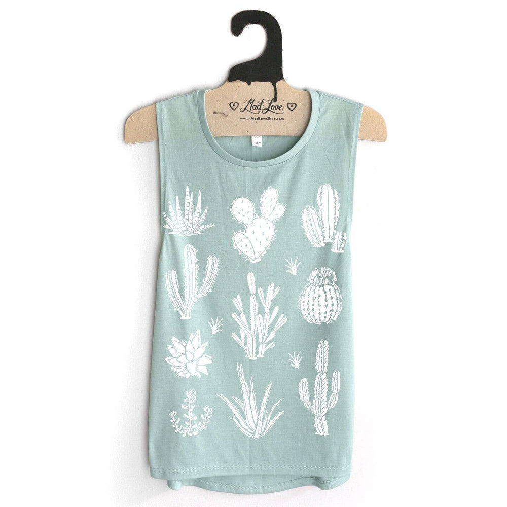 Cactus and Succulents Top | Seafoam | Eco-friendly