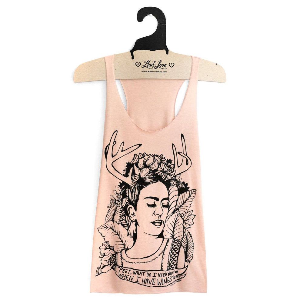Peach Frida Kahlo Tank Top | Eco-friendly