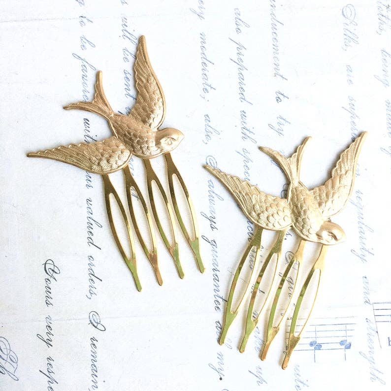 Woodland Bird Hair Comb