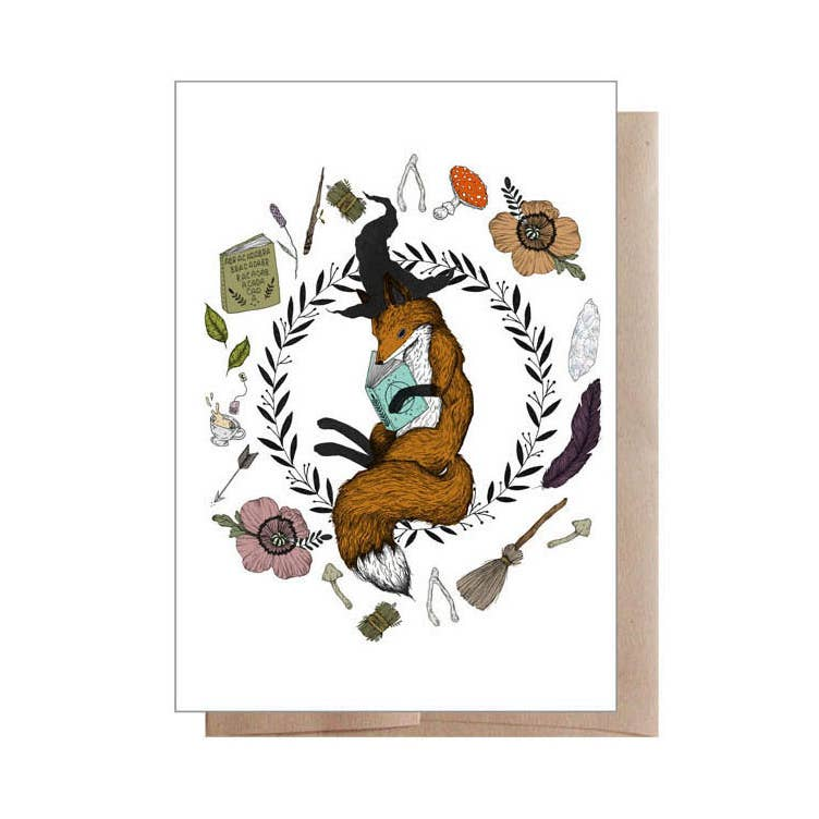 Magic Student Fox Greeting Card