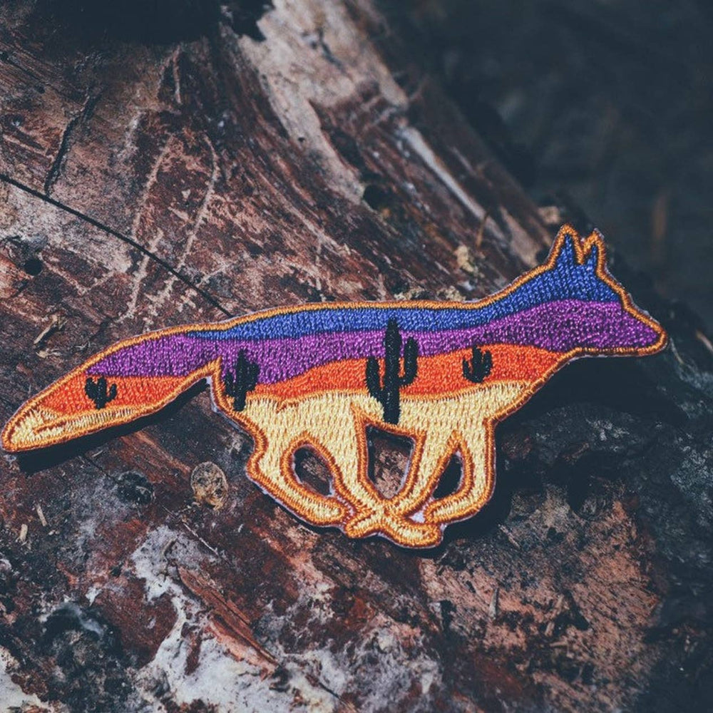 Coyote Desert Iron on Patch