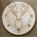 Deer Crystal Grid (8 inches)