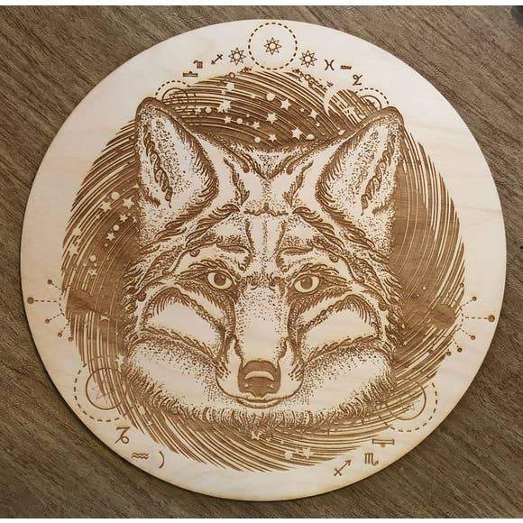 Fox Crystal Grid (8 inches)