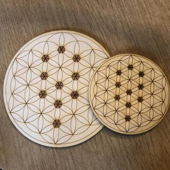 Flower of Life - Tree of Life Crystal Grid (8 inches)