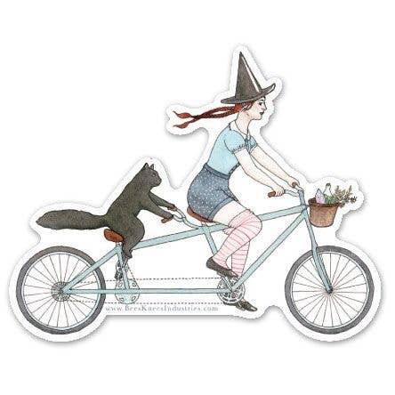 Tandem Witch Vinyl Sticker