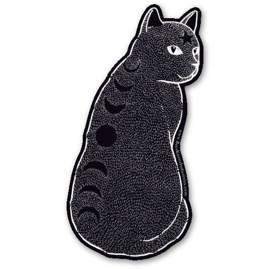 Moon Phase Cat Vinyl Sticker
