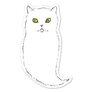 Ghost Cat Vinyl Sticker