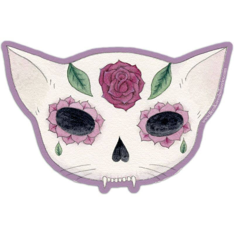 Rose Sugar Skull Vinyl Sticker