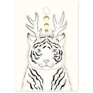 "Fantastical Tiger Art Print - 5"" x 7"""