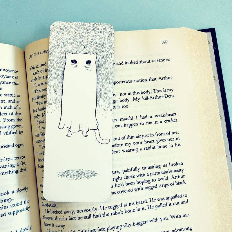 Kitty Ghostie | Floating Cat | Bookmark