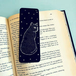 Black Cat Moon Phase Bookmark